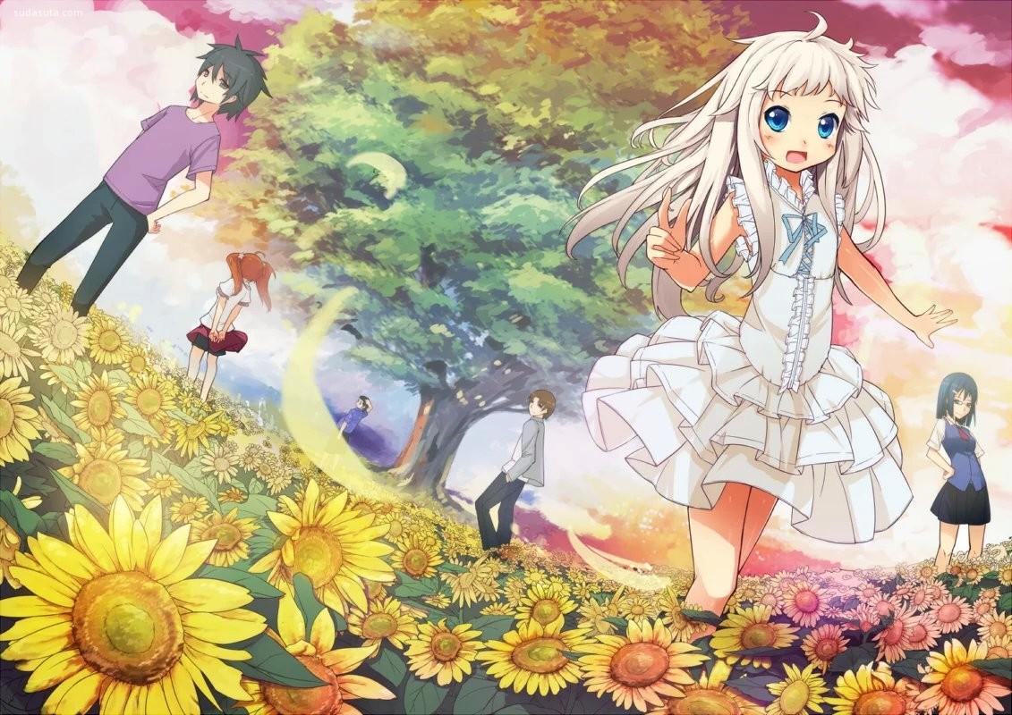 《我们仍未知道那天所看见的花的名字》同人CG欣赏