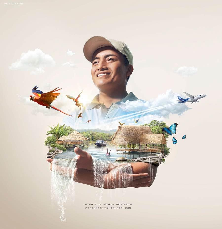 Liam Peru 广告插画欣赏