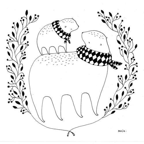 Maja Säfström 的童趣插画