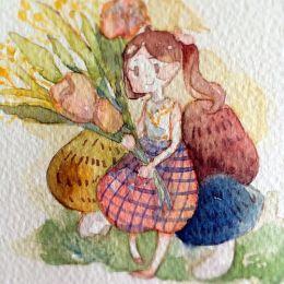 一陌信 手绘水彩插画欣赏