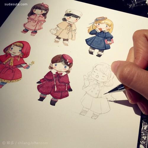 哆多是个小画手 手绘水彩插画欣赏