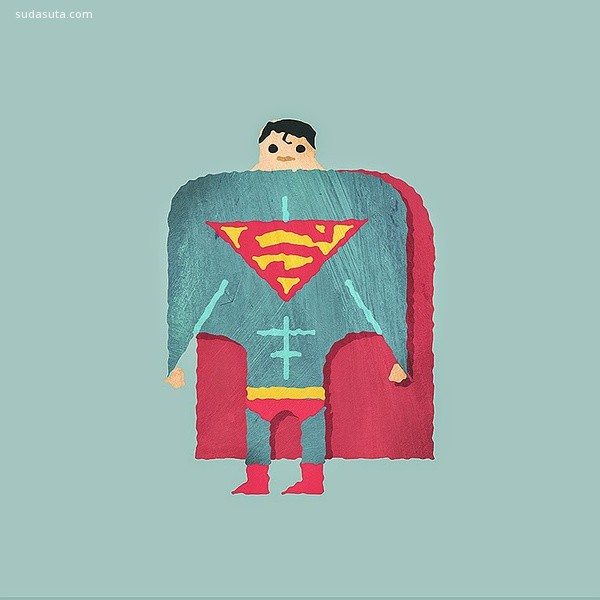 Alberto Cerriteno 简约可爱的超级英雄