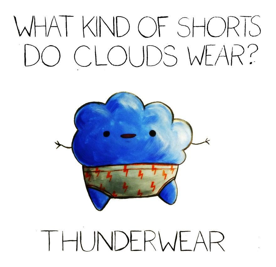 Monika 可爱幽默的小插画
