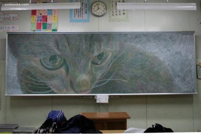 黑板上的艺术品!