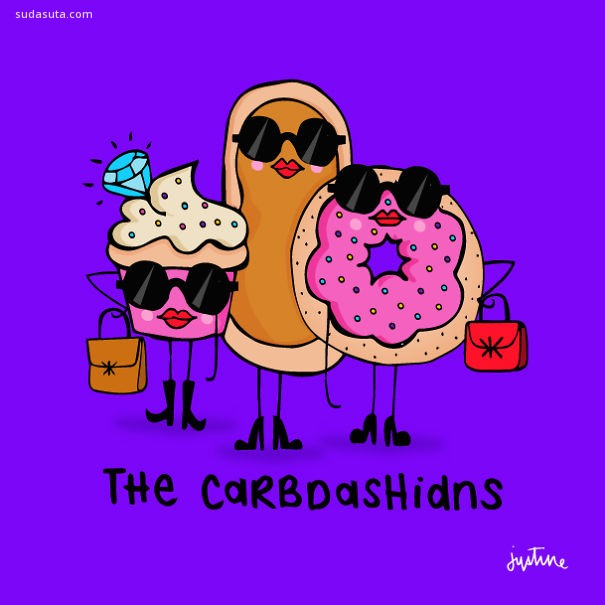 Justine Morrison 幽默可爱的生活插画