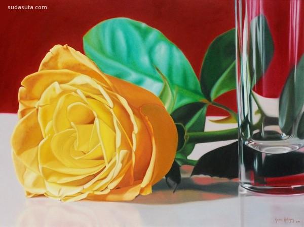 Karina Rodriguez 花朵主题静物写实插画欣赏