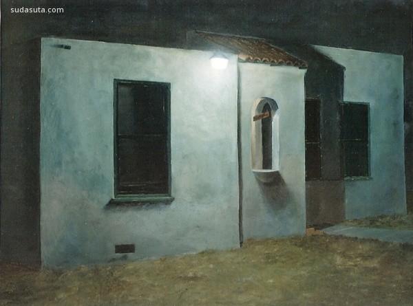 Mark G. Hosmer 安静的小屋 绘画艺术欣赏
