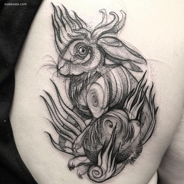 Nomi Chi 素描风格的纹身设计欣赏