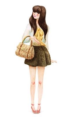 Genevieve Godbout 可爱温馨的时尚插画