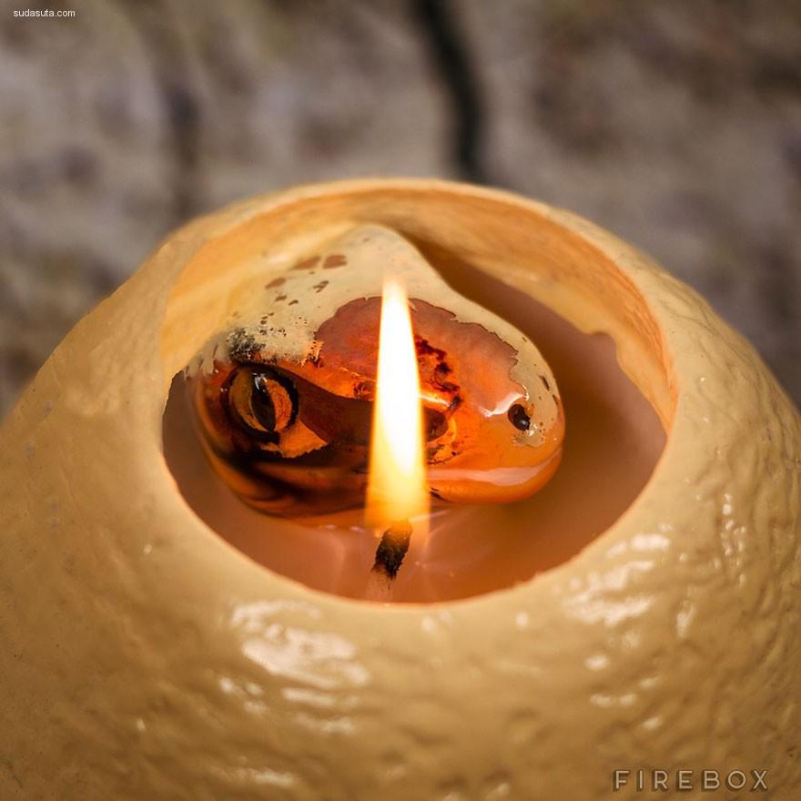 可爱的恐龙蛋蜡烛