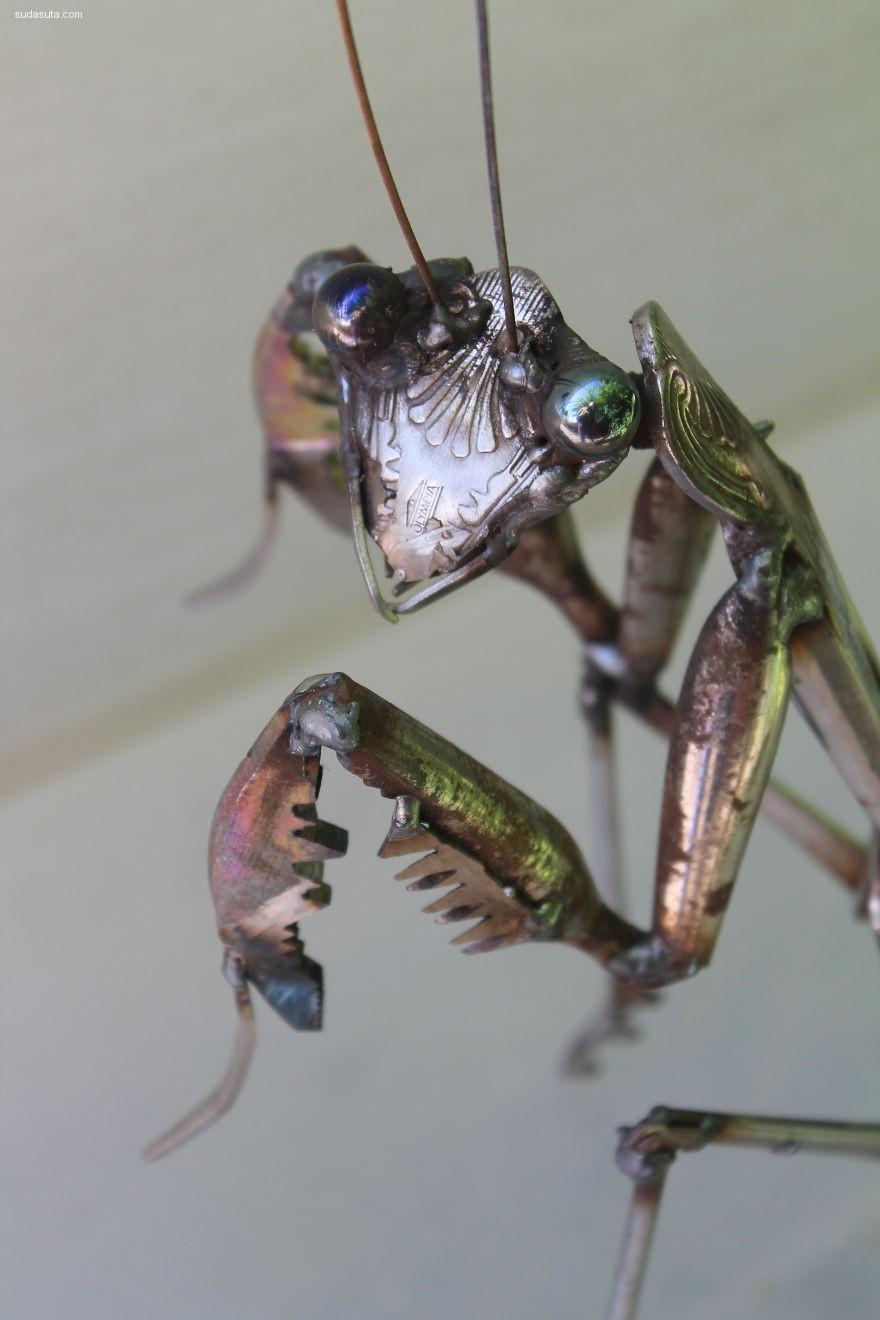 JK Brown 手工金属动物雕塑设计欣赏