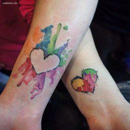 妈妈和女儿一起的纹身