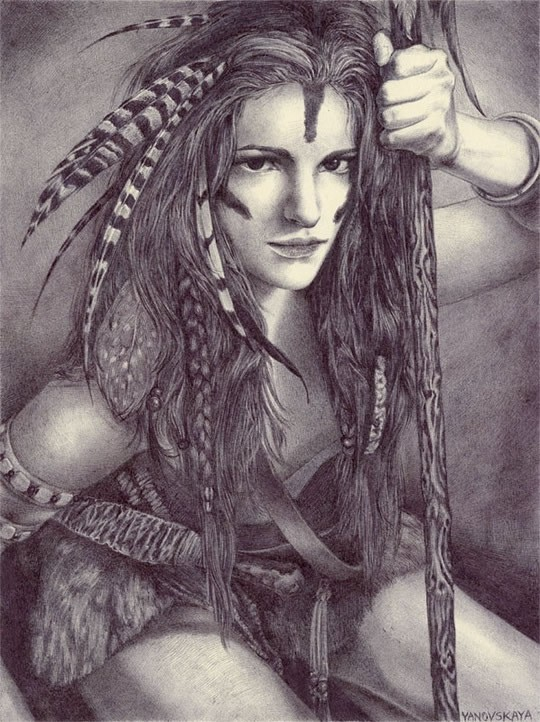 Rebecca Yanovskaya 神话主题圆珠笔插画欣赏