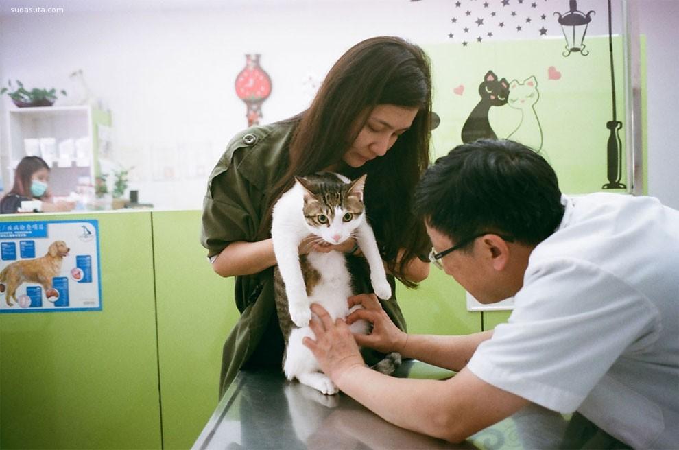 SEAN MARC LEE 女生和猫