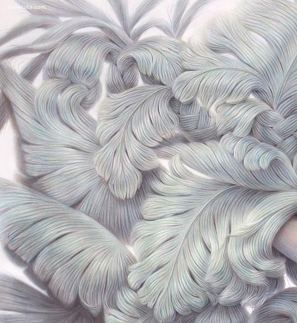 Winnie Truong 粉彩和色铅笔画欣赏