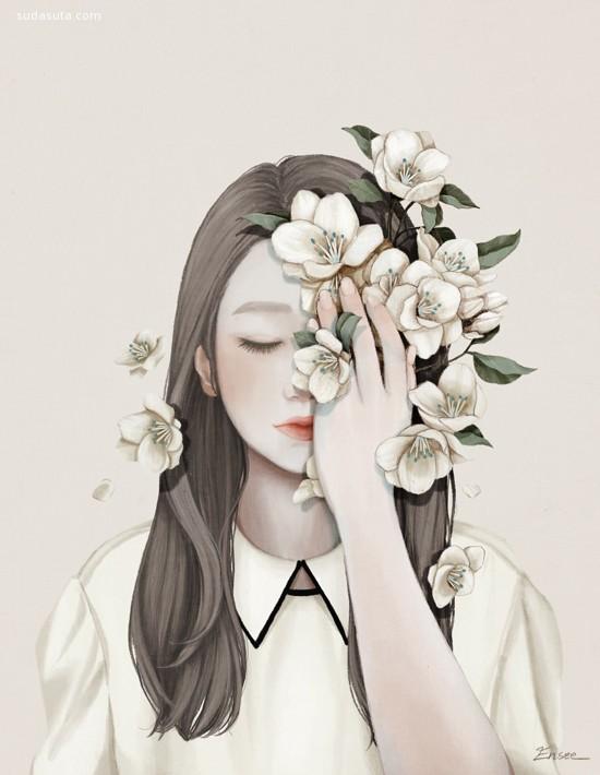 Choi Mi Kyung 清新浪漫的插画作品欣赏