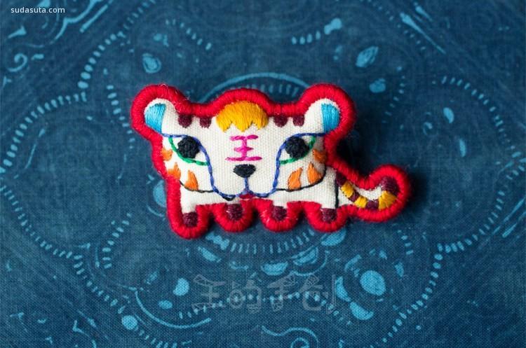 王的手创 纯手工刺绣