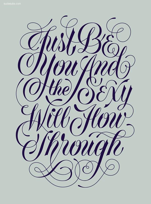 28个优雅迷人的花体字平面设计欣赏