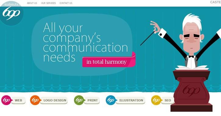20个带有矢量插画背景的网页设计灵感