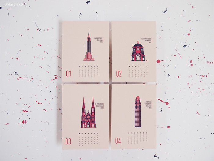 2016年创意日历设计欣赏