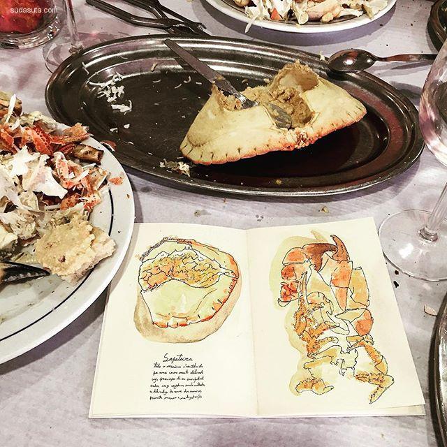 Ana Gil 手绘美食 笔尖上的饕餮