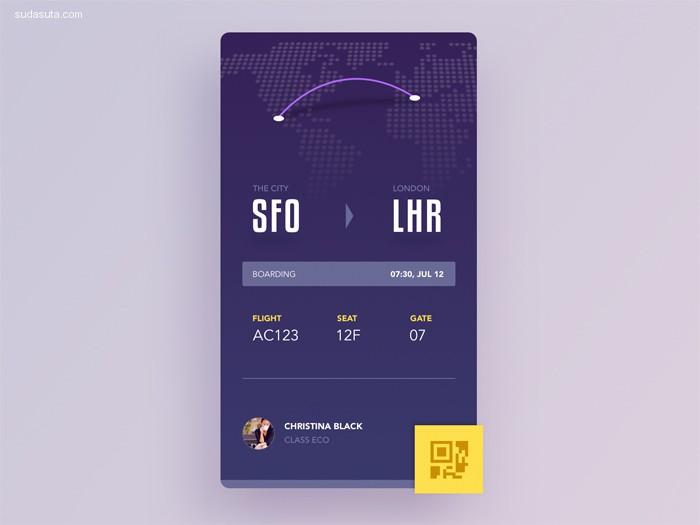 20个精致的登机牌设计