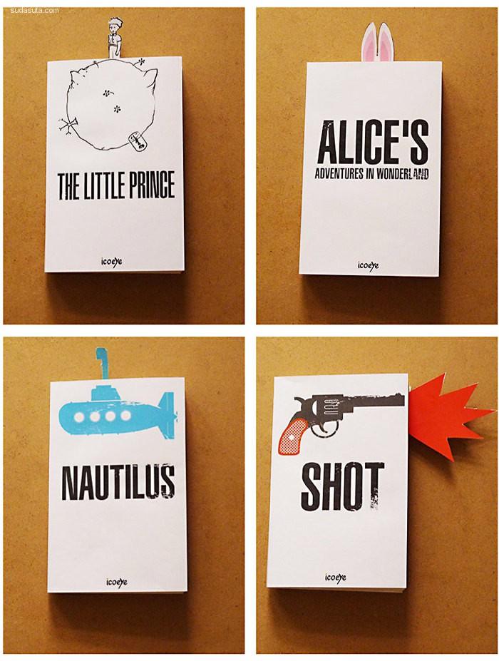 20个有趣幽默的书签设计