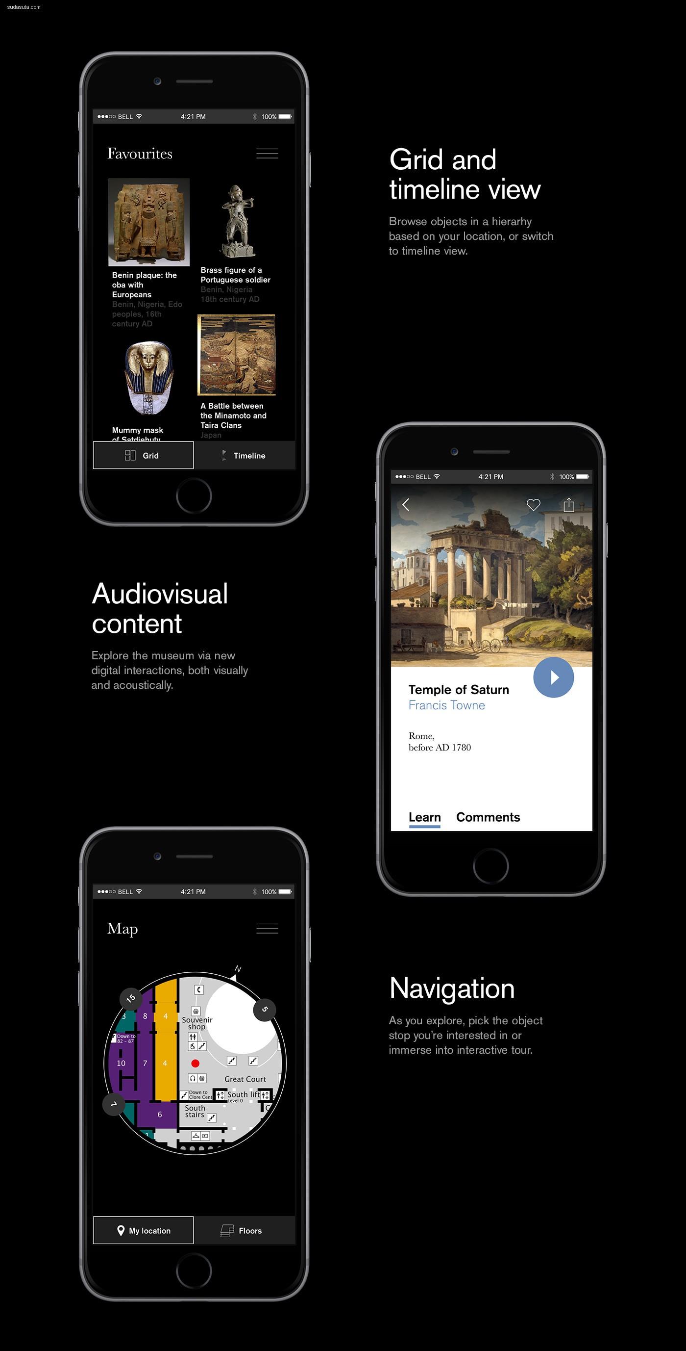 British Museum 手机界面设计欣赏
