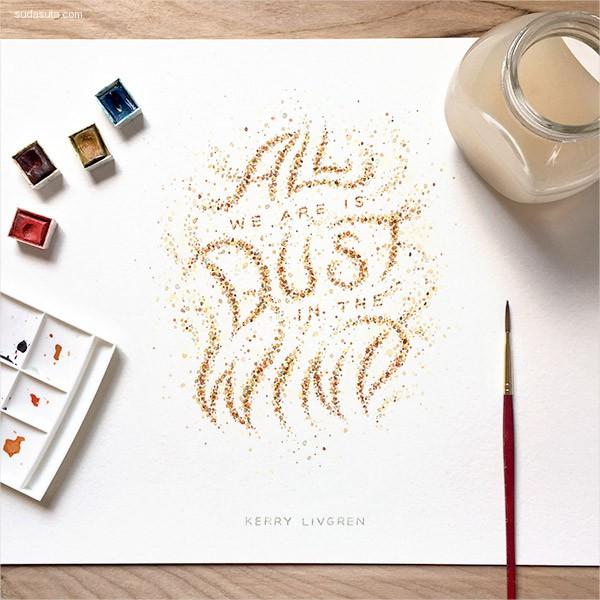 Dangerdust 手写花体字设计欣赏
