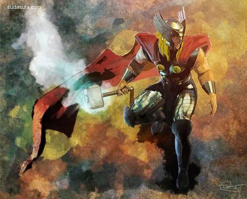 Daniel Murray 超级英雄主题概念插画欣赏