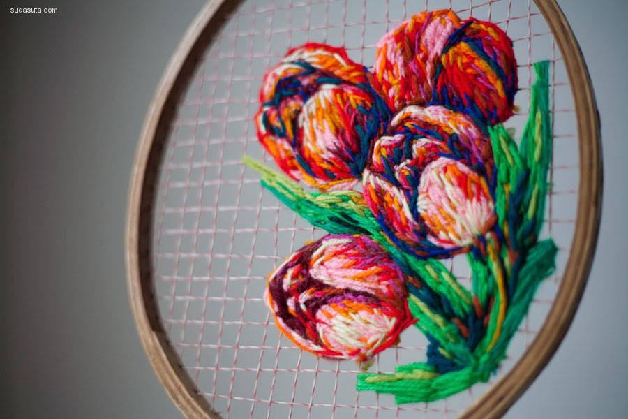 Danielle Clough 手工刺绣艺术欣赏