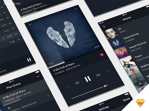 100+免费的UI界面PSD素材