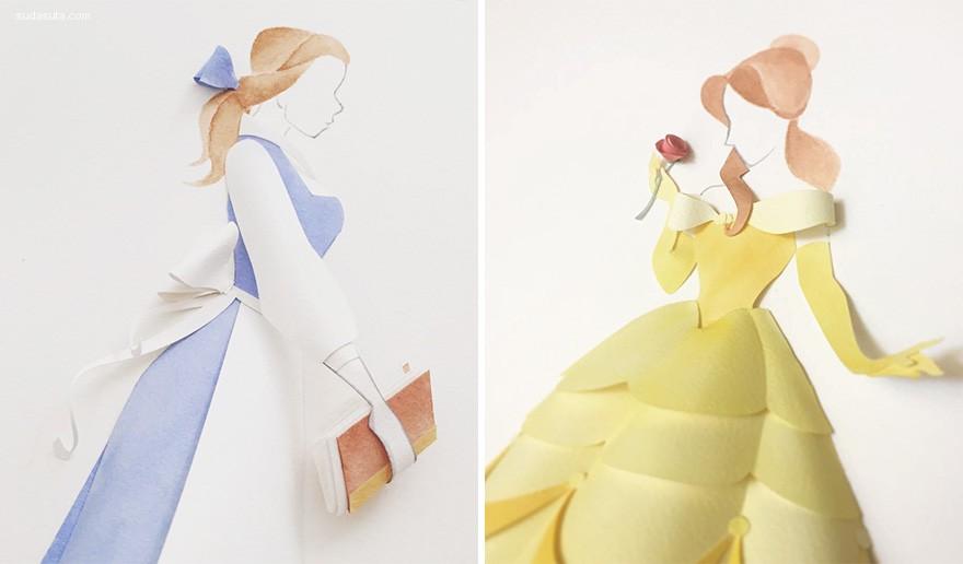 Jackie Huang 迪士尼主题纸张艺术欣赏