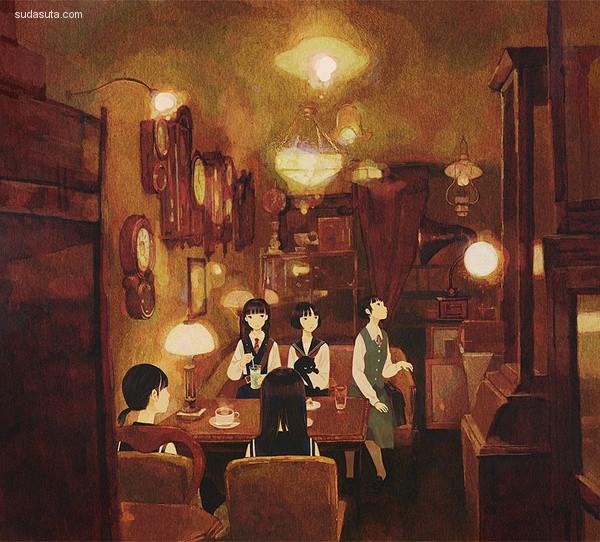 Jun Kumaori 绘画艺术欣赏