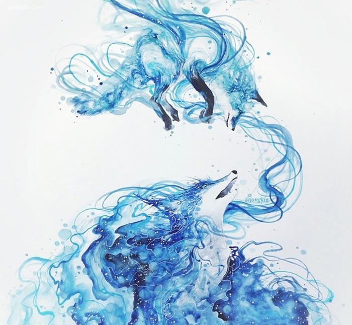 Luqman Reza 手绘水彩插画欣赏