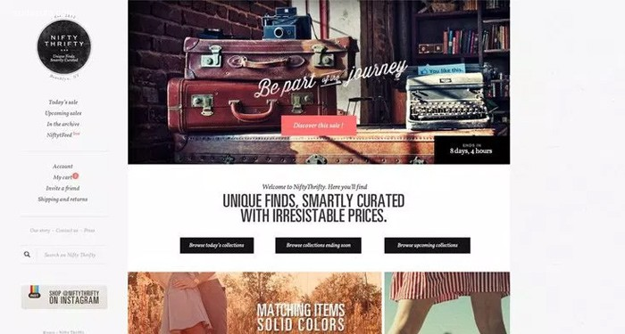 23个拥有独特布局的网页设计欣赏