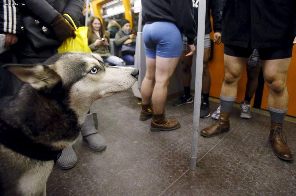 不穿裤子坐地铁