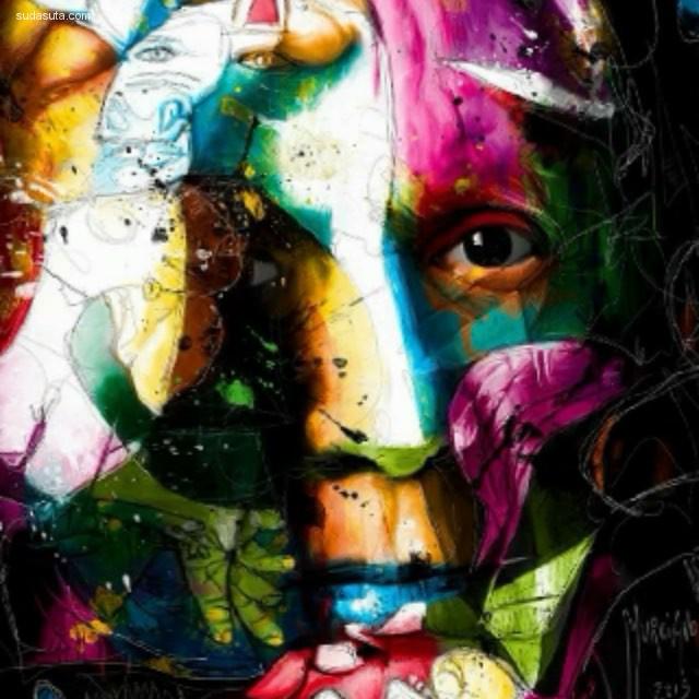 Patrice Murciano 彩虹般色彩的手绘人像艺术