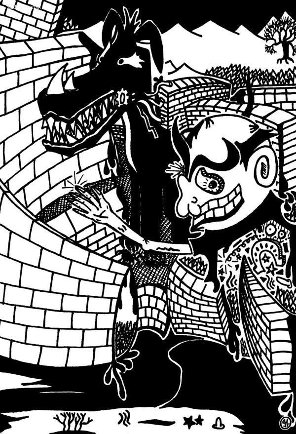 Patrick Honnen 黑白插画欣赏