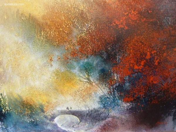 Roland Palmaerts 手绘水彩自然风景艺术欣赏