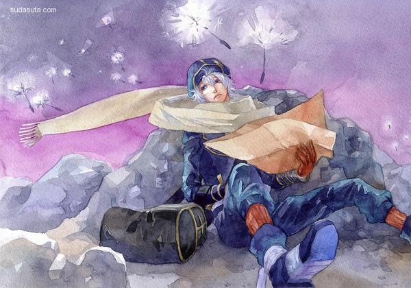Sivern Chernotrav 手绘水彩插画欣赏