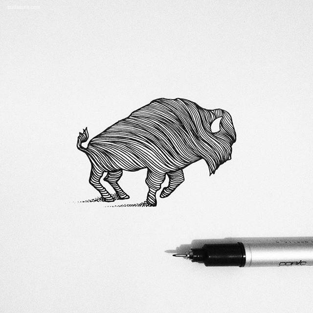 Thiago Bianchini 简约可爱的手绘插画