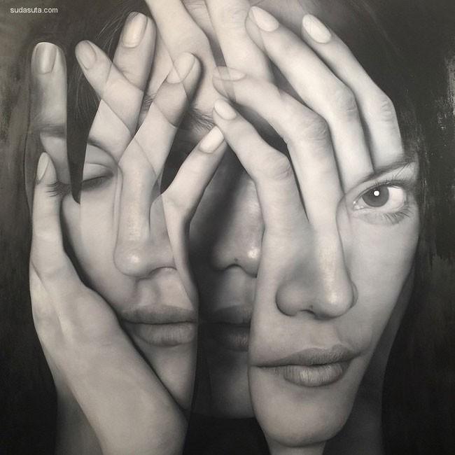 Tigran Tsitoghdzyan 超现实主义巨幅手绘人像插画欣赏