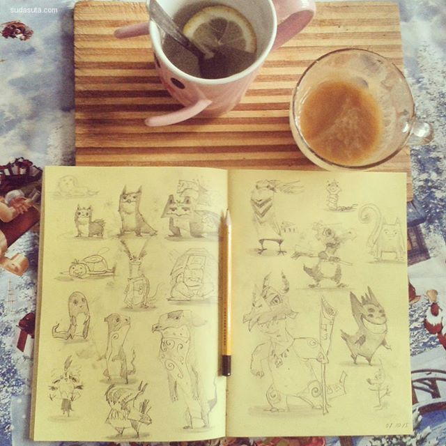 Valeriya Zhivechkova 手绘漫画欣赏