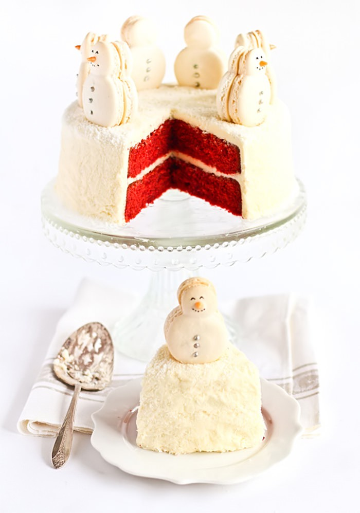 冰凉凉的圣诞节主题蛋糕设计欣赏