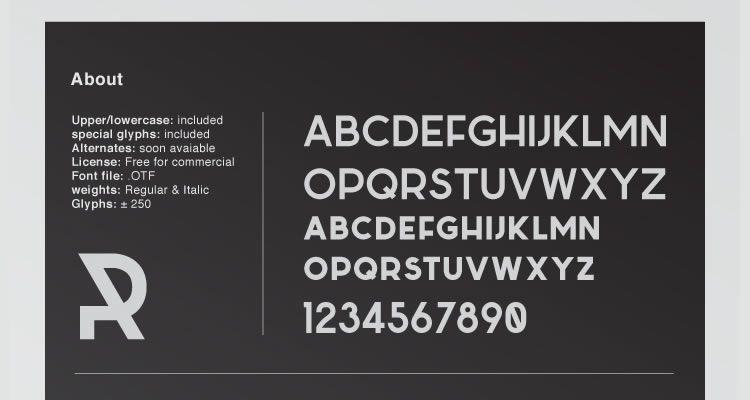 60个干净简约的免费字体