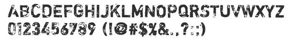 25个免费的脏兮兮的英文字体下载