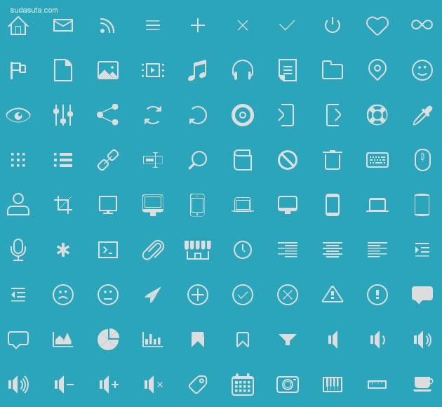 20个免费的CSS网页设计图标集