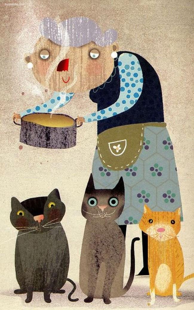 关于爱和宠物的主题插画欣赏