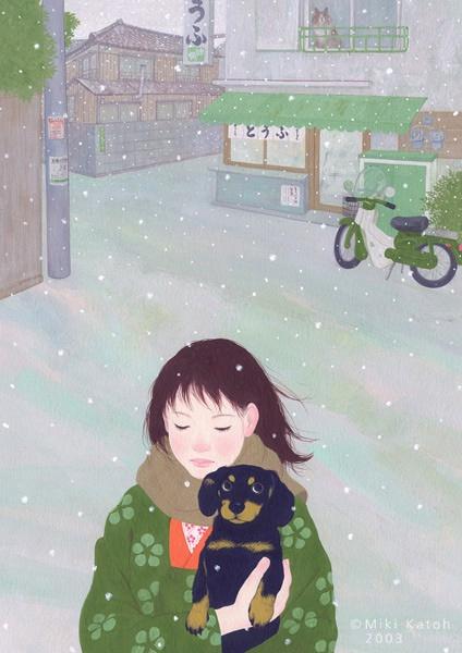 加藤美紀 温柔的插画作品欣赏